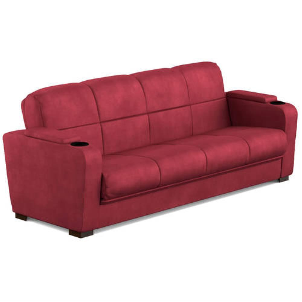 mainstays-tyler-red-leather-sleeper-sofa-sale